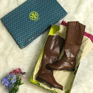 Tory Burch Shoes - Tory Burch Almond Derby Riding Boots NIB sz 5.5